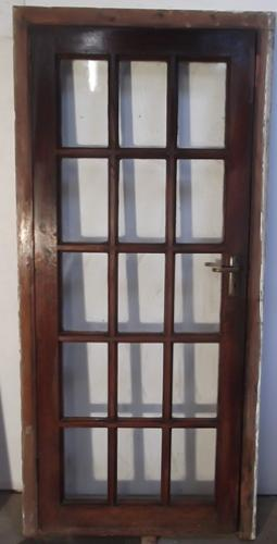 DE0317 A Late Victorian, Oak 15 Panel Exterior door, (no frame)