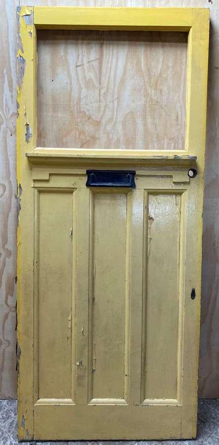 DE0323  An Edwardian, Art Deco, Pine Front Door