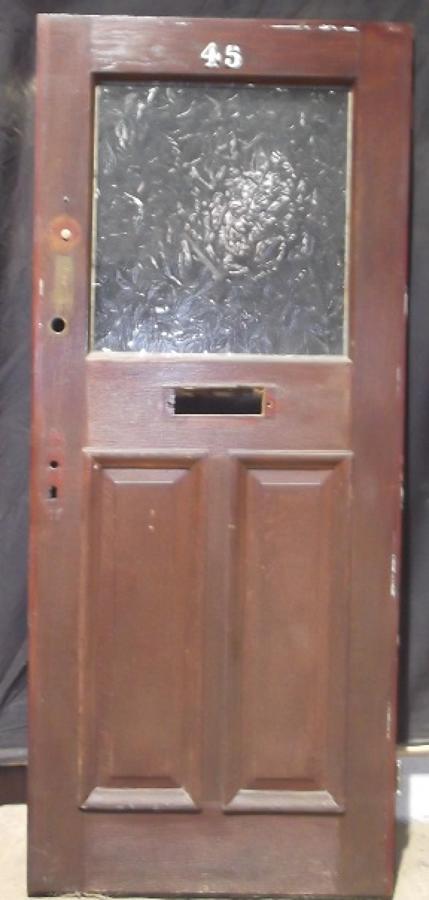 DE0324   An Early Edwardian, Oak Front Door c.1910