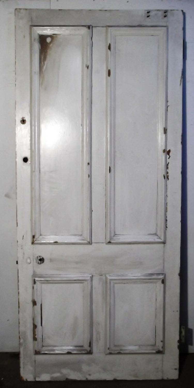 DE0340 A Large Victorian Pine Front Door, c 1860