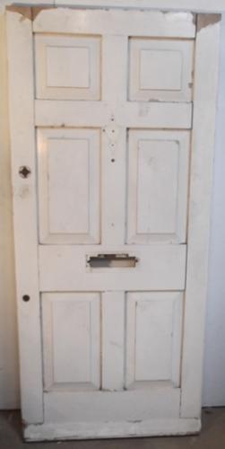 de0361 An Original Heavy Victorian 6 Panelled Front Door.