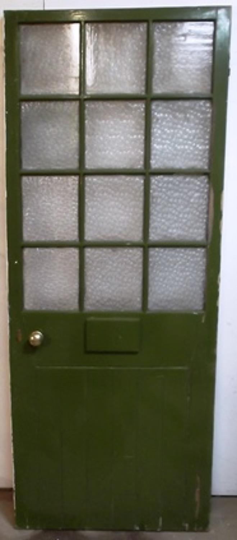 DE0396 Edwardian Glazed Front door with 12 glazed Panels
