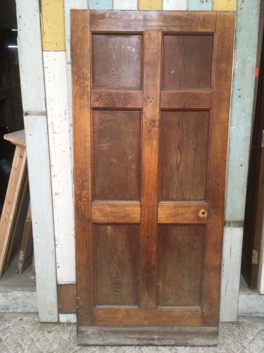 DE0404 A Solid Oak, 6 Panel, Edwardian Cottage Front Door