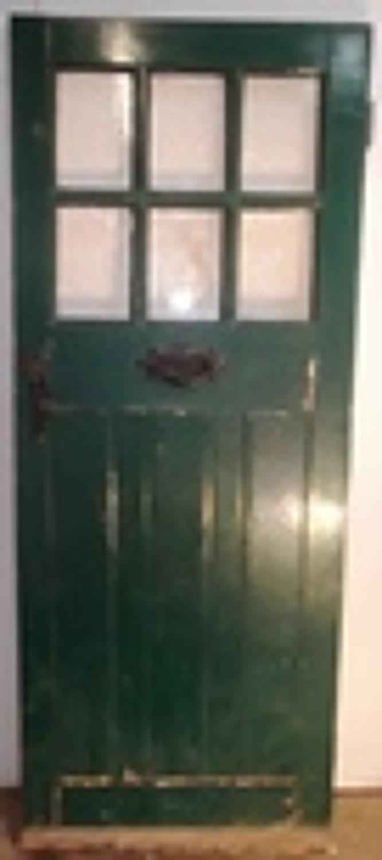 DE0432 An Edwardian Pine Front Door with 6 Glazed Panels