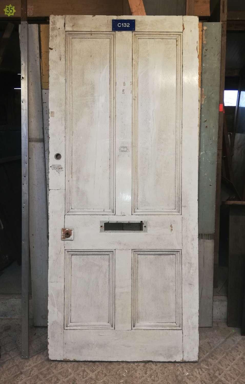 DE0433 A Large Victorian Pine Front Door