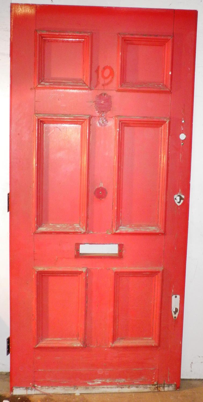 DE0438 A Georgian 6 Panelled Pine Door for External Use