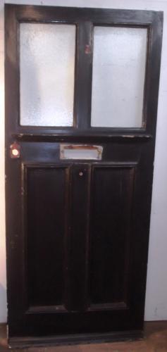 DE0458 A Large Edwardian Pine Arts & Crafts Front Door c. 1905