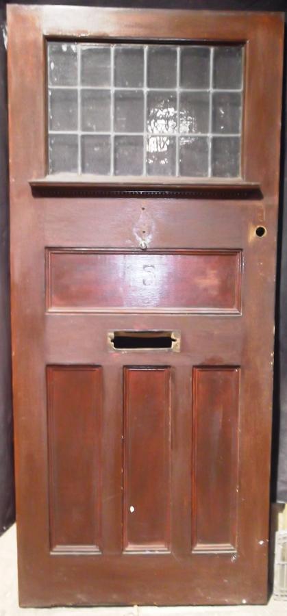 DE0471 An Edwardian Arts & Crafts Oak Front Door c.1910