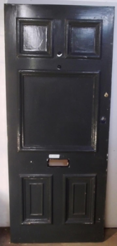 DE0488 A Large Victorian Pine Front Door with 6 Panel