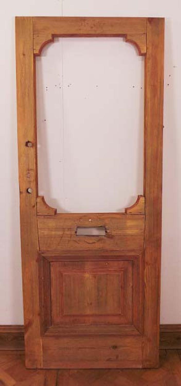 DE0502 LOVELY EDWARDIAN PINE EXTERNAL DOOR