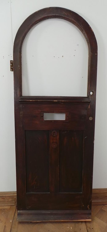 DE0505 LOVELY EDWARDIAN PINE ARCHED DOOR
