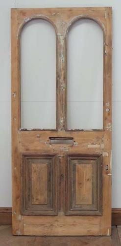 DE0531 LOVELY LARGE VICTORIAN PANELLED PINE DOOR