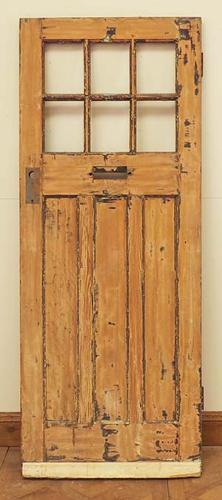 DE0535 LOVELY ORIGINAL EDWARDIAN PANELLED PINE DOOR