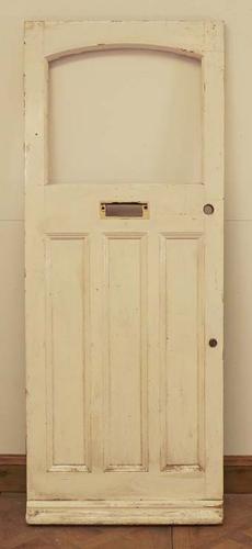 DE0538 LOVELY EDWARDIAN PANELLED PINE DOOR