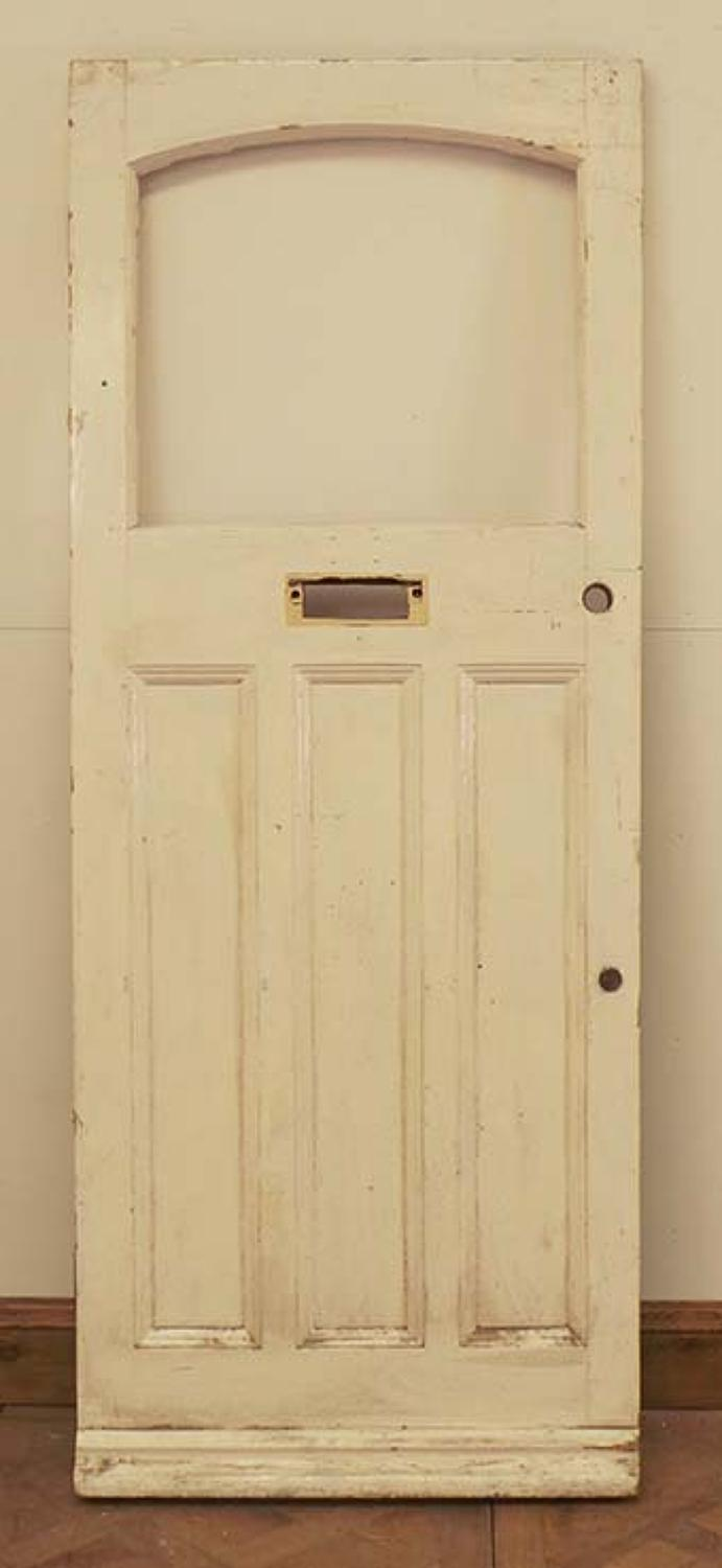 DE0538 LOVELY EDWARDIAN PANELLED PINE DOOR