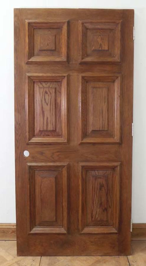DE0547 STUNNING EDWARDIAN HEAVY SOLID OAK PANELLED DOOR
