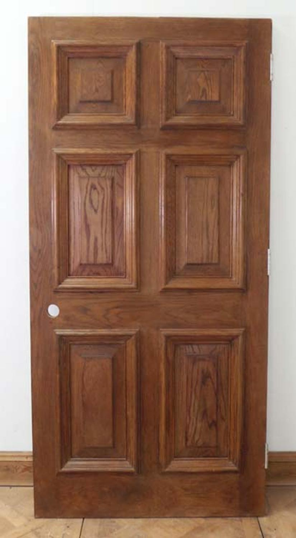 DE0547 STUNNING EDWARDIAN HEAVY SOLID OAK PANELLED DOOR