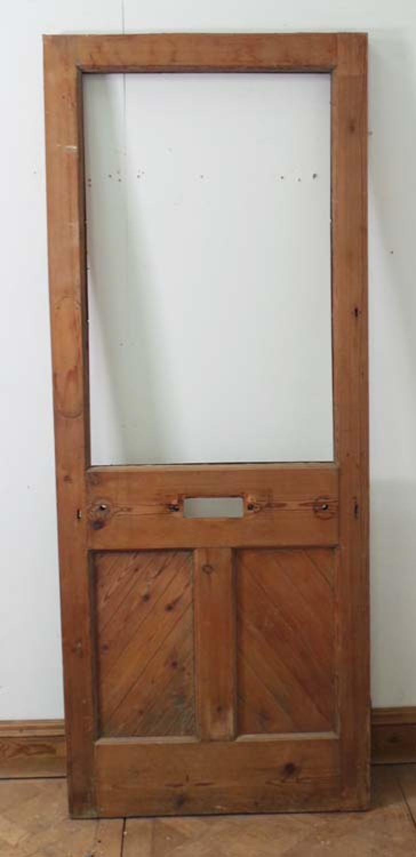 DE0554 LOVELY LATE VICTORIAN GOTHIC PANELLED PINE DOOR