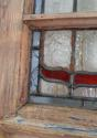 DE0565 STUNNING CLASSIC EDWARDIAN PINE STAINED GLASS DOOR - picture 4