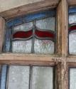 DE0565 STUNNING CLASSIC EDWARDIAN PINE STAINED GLASS DOOR - picture 5