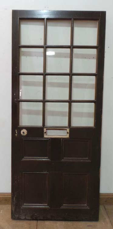 DE0577 A BEAUTIFUL VICTORIAN PINE GLAZED DOOR