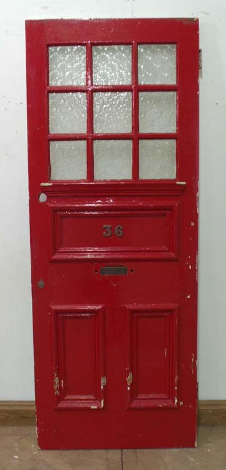 DE0580 BEAUTIFUL & UNUSUAL VICTORIAN PINE GLAZED DOOR