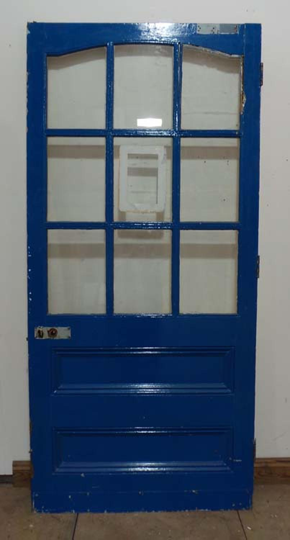 DE0583 A BEAUTIFUL LARGE VICTORIAN PINE GLAZED DOOR