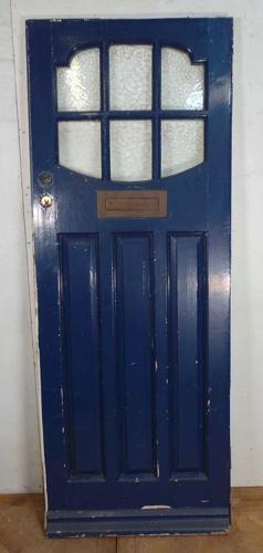 DE0590 EDWARDIAN SOLID PINE GLAZED PANELLED DOOR