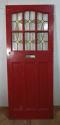 DE0592 LOVELY EDWARDIAN PANELLED PINE STAINED GLASS DOOR - picture 1