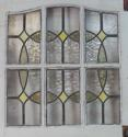 DE0592 LOVELY EDWARDIAN PANELLED PINE STAINED GLASS DOOR - picture 4