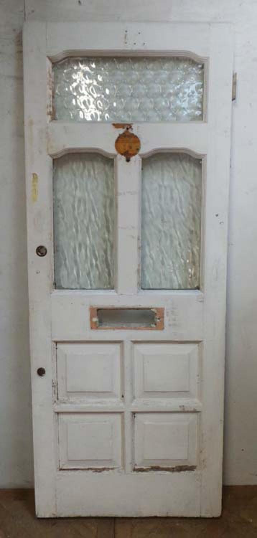 DE0611 A BEAUTIFUL VICTORIAN PINE GLAZED FRONT DOOR