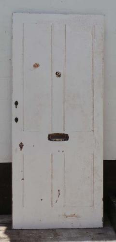 DE0614 LARGE VICTORIAN PINE PANELLED DOOR