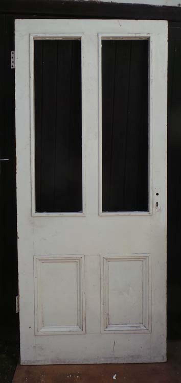 DE0621 LARGE & ORIGINAL VICTORIAN PANELLED PINE DOOR