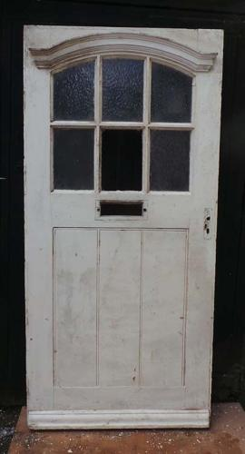 DE0622 A LOVELY EDWARDIAN PINE FRONT DOOR