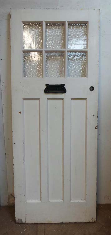 DE0626 LOVELY EDWARDIAN PANELLED PINE DOOR