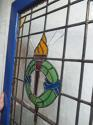 DE0628 LOVELY VICTORIAN PANELLED PINE STAINED GLASS DOOR - picture 3
