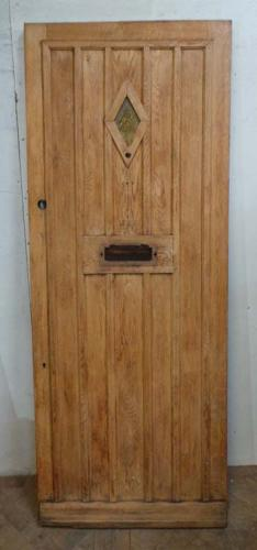 DE0638 STUNNING EDWARDIAN OAK COTTAGE STYLE DOOR