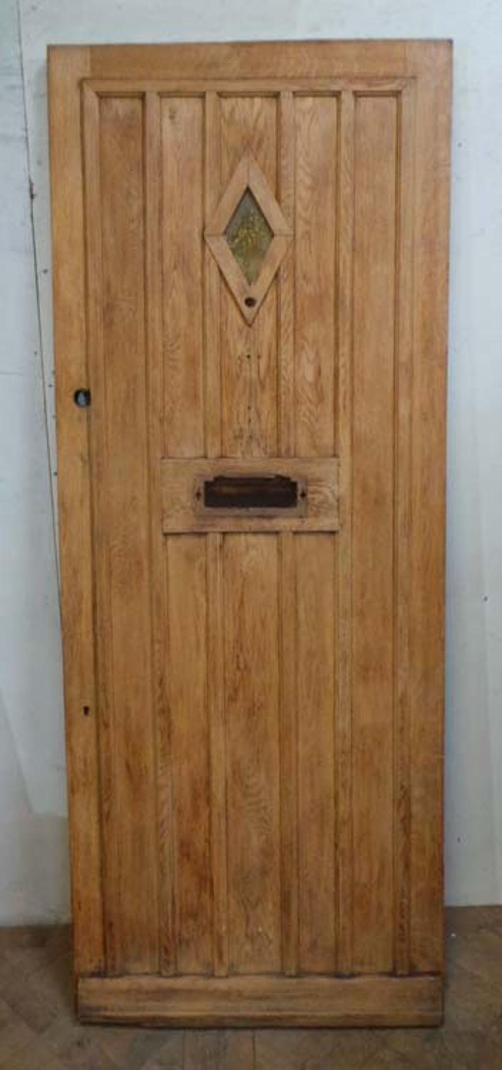 DE0638 STUNNING EDWARDIAN OAK COTTAGE STYLE DOOR