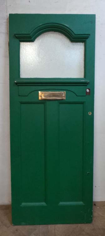 DE0644 A CLASSIC EDWARDIAN PINE GLAZED DOOR