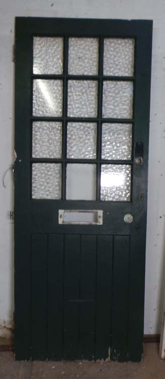 DE0646 A BEAUTIFUL VICTORIAN PINE GLAZED DOOR