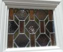 DE0648 LOVELY VICTORIAN SIX PANELLED PINE STAINED GLASS DOOR - picture 3