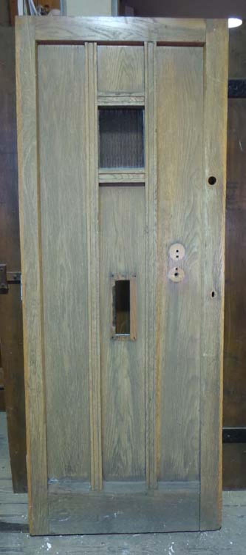 DE0650 STUNNING EDWARDIAN OAK COTTAGE ARTS & CRAFTS STYLE DOOR