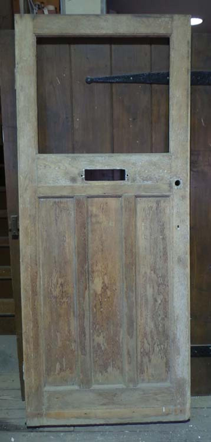 DE0655 ORIGINAL EDWARDIAN OAK PANELLED DOOR