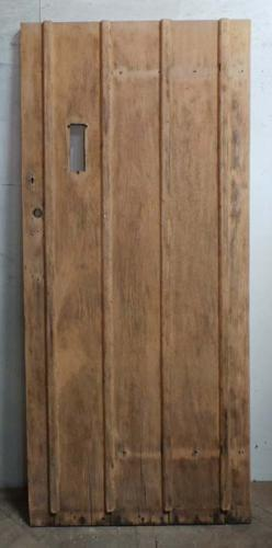 DE0672 STUNNING EDWARDIAN ARTS & CRAFTS OAK FRAMED PLANKED DOOR