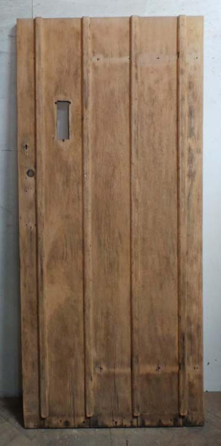 DE0672 STUNNING EDWARDIAN ARTS & CRAFTS OAK FRAMED PLANKED DOOR