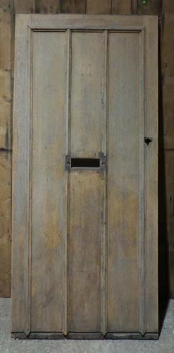 DE0675 STUNNING EDWARDIAN ARTS & CRAFTS OAK FRAMED PLANKED DOOR