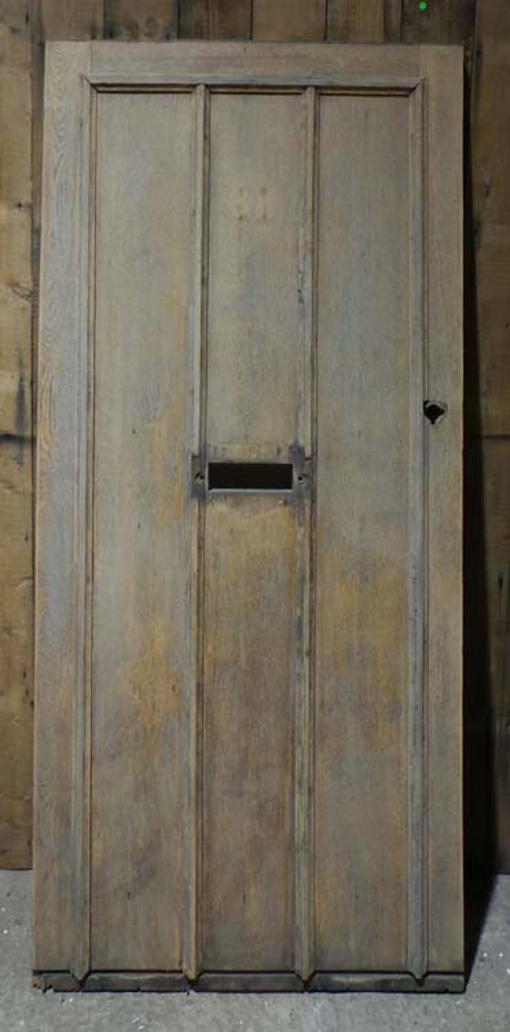 DE0675 STUNNING EDWARDIAN ARTS & CRAFTS OAK FRAMED PLANKED DOOR