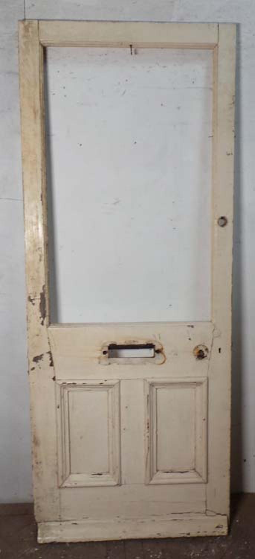 DE0686 LOVELY VICTORIAN PANELLED PINE DOOR FOR GLAZING
