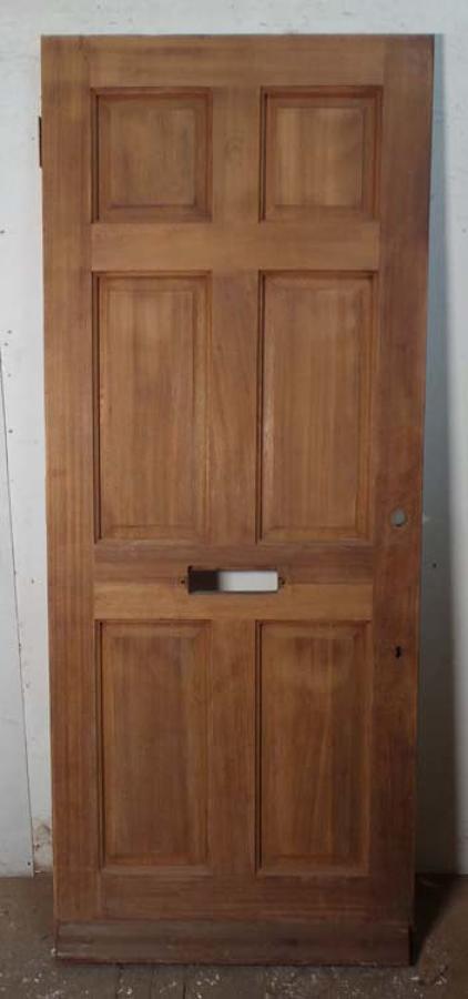 DE0687 MODERN EDWARDIAN STYLE HARDWOOD PANELLED DOOR