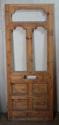 DE0688 A BEAUTIFUL VICTORIAN PINE FRONT DOOR - picture 1